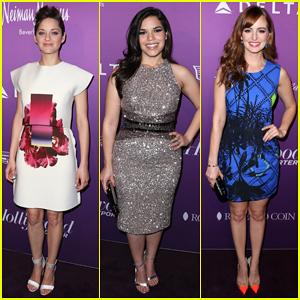 Marion Cotillard, America Ferrera, & Ahna O'Reilly Get Glam for THR's Academy Awards Nominees Night 2015