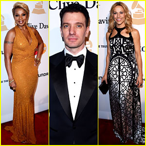 Mary J Blige Brings Down the House with JC Chasez at Pre-Grammy Party