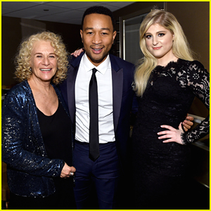 Meghan Trainor & John Legend Duet At Clive Davis' Pre-Grammy Gala - See The Pics!
