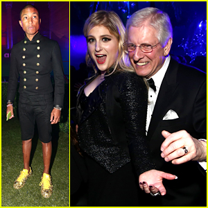 Meghan Trainor Parties with Pharrell Williams After Grammys