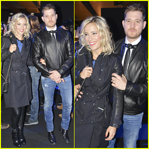 Michael Buble Takes Break from World Tour to Attend David Delfin Fashion Show with Wife Luisana Lopilato!