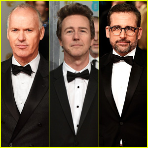 Michael Keaton, Edward Norton, & Steve Carell Bring Their Best Bow Ties to BAFTAs 2015