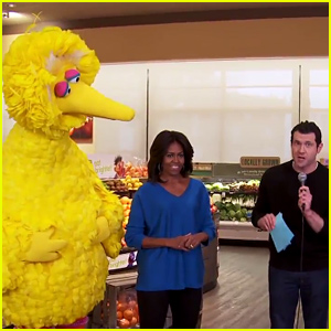 Michelle Obama & Big Bird are Billy on the Street's First Guests of 2015 - Watch Now!