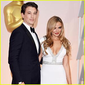 Miles Teller Brings Girlfriend Keleigh Sperry To Oscars 2015