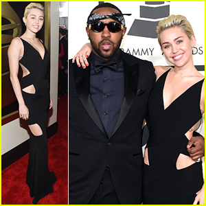 Miley Cyrus Shows Some Skin at the Grammys 2015