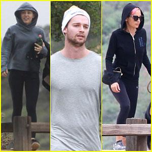 Miley Cyrus & Patrick Schwarzenegger Take a Hike with Nicole Richie