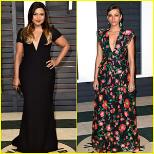 Mindy Kaling & Rashida Jones Rock Daring Low-Cut Dresses to Vanity Fair Party