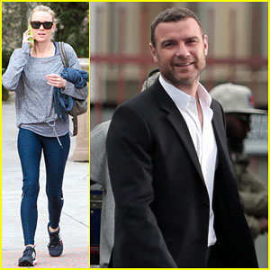 Naomi Watts Keeps It Tight in Spandex Pants While Liev Schreiber Films 'Ray Donovan'