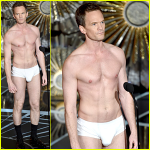 Neil Patrick Harris Strips Down to His Underwear for Oscars 2015 'Birdman' Spoof - Watch Now!