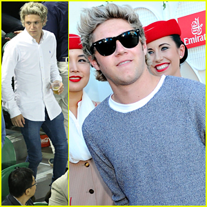 Niall Horan Cheers On Novak Djokovic At Australia Open 2015