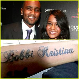 Nick Gordon Tattooed Bobbi Kristina Brown's Name On His Arm