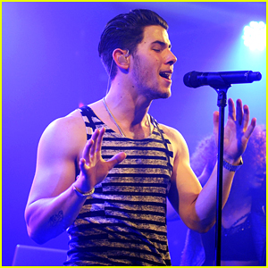 Nick Jonas Breaks Out His Muscles at G-A-Y Nightclub