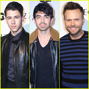 Nick Jonas, Brother Joe, & Joel McHale Make It A Stud Fest at GQ's Z Zegna Collection Celebration!