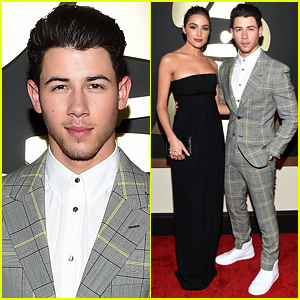 Nick Jonas Brings Girlfriend Olivia Culpo to Grammys 2015