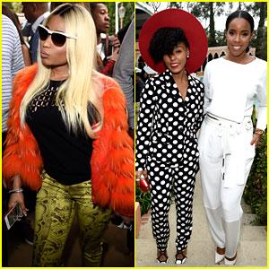 Nicki Minaj & Janelle Monae Show Their Stylish Side at Puma's Pre-Grammys Party