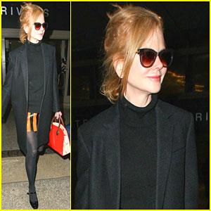 Nicole Kidman Returns to Sunny California After Debuting a New Haircut!