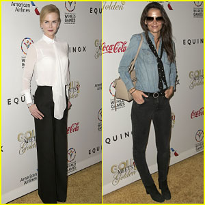 Nicole Kidman & Katie Holmes Are Leading Ladies at Gold Meets Golden Benefit