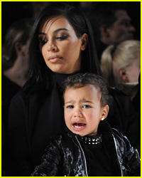 North West Cries at Alexander Wang Fashion Show