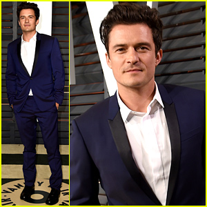 Orlando Bloom Looks Dapper for Vanity Fair's Oscars 2015 Party
