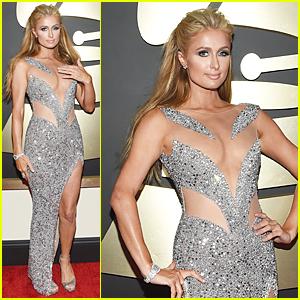 Paris Hilton Channels Sparkling Diamond Barbie at Grammys 2015