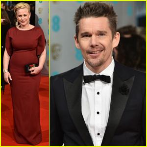 Patricia Arquette & Ethan Hawke Bring 'Boyhood' to BAFTAS