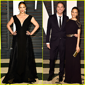 Paula Patton & Thandie Newton Are Women in Black at Vanity Fair Oscar Party 2015
