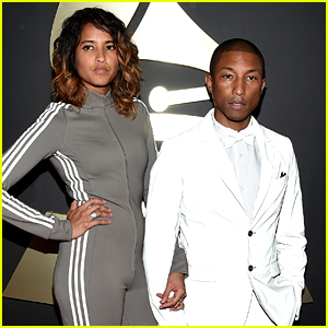 Pharrell Williams & Wife Helen Are 'Happy' at Grammys 2015
