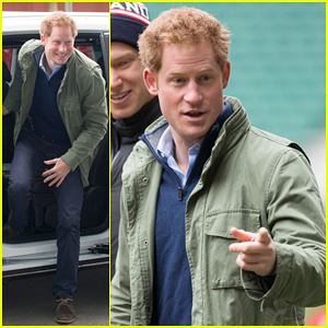 Prince Harry Visits Injured London Marathon Runners At RFU Training Session!