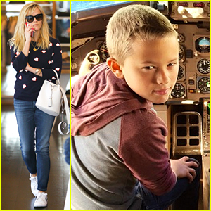 Reese Witherspoon's Son Deacon Takes Flight with Dad Ryan Phillippe!