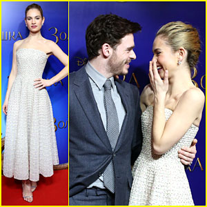 Richard Madden & Lily James Take 'Cinderella' to Moscow
