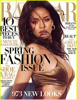 Rihanna Covers 'Harper's Bazaar,' Talks Fashion Risks & Swimming with the Sharks!