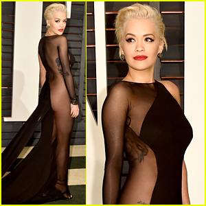 Rita Ora Bares Her Booty at Vanity Fair Oscar Party 2015