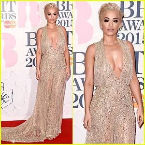 Rita Ora Becomes Golden Goddess at BRIT Awards 2015