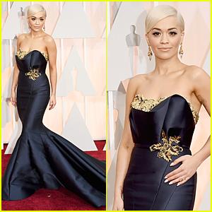 Rita Ora Makes Oscars 2015 Red Carpet Debut