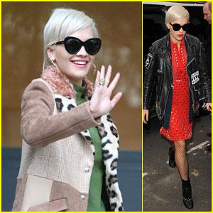 Rita Ora Keeps Busy in a Fierce Outfit in London