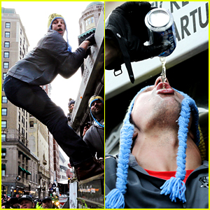 Rob Gronkowski Had More Fun Than Anyone Else at the Patriots Super Bowl Parade