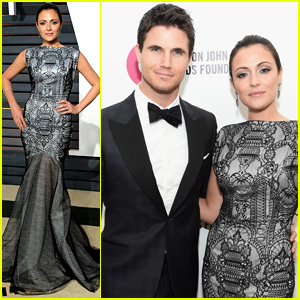 Robbie Amell & Italia Ricci Make it a Date Night at Oscars Bash
