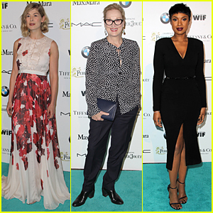 Rosamund Pike Is 'Keeping It Real' at Women in Film Pre-Oscar Party