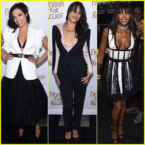 Rosario Dawson & Michelle Rodriguez Show Support for Fashion for Relief