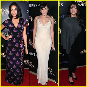 Rosario Dawson & Zelda Williams Style Up the Noble Awards