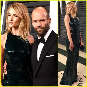 Rosie Huntington-Whiteley & Jason Statham Couple Up at Vanity Fair's Oscars 2015 Party