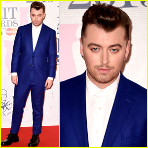 Sam Smith Goes Bold in Blue at BRIT Awards 2015