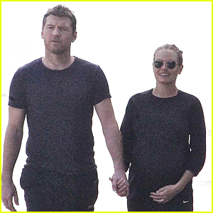 Sam Worthington's Girlfriend Lara Bingle Cradles Growing Baby Bump
