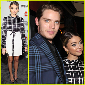 Sarah Hyland & Dominic Sherwood Couple Up at Vanity Fair's Young Hollywood Party!
