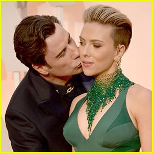 Scarlett Johansson Comments on John Travolta Kiss at Oscars 2015