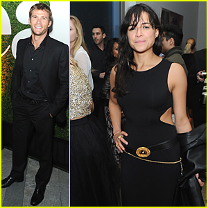 Scott Eastwood & Michelle Rodriguez Celebrate Treats! Magazine at Pre-Oscar Party