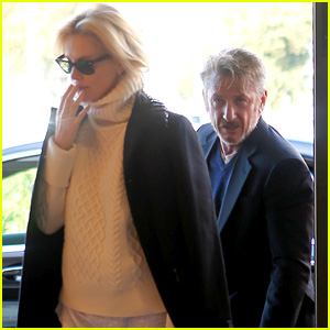 Sean Penn & Charlize Theron Spend Valentine's Day in Rome