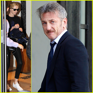 Sean Penn Meets with French President Francois Hollande After Night Out with Charlize Theron!