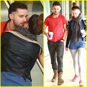 Shia LaBeouf & Mia Goth Show Off Some Major PDA
