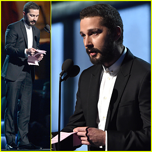 Shia LaBeouf Reads Poem to Sia Before Introducing Her at Grammys 2015